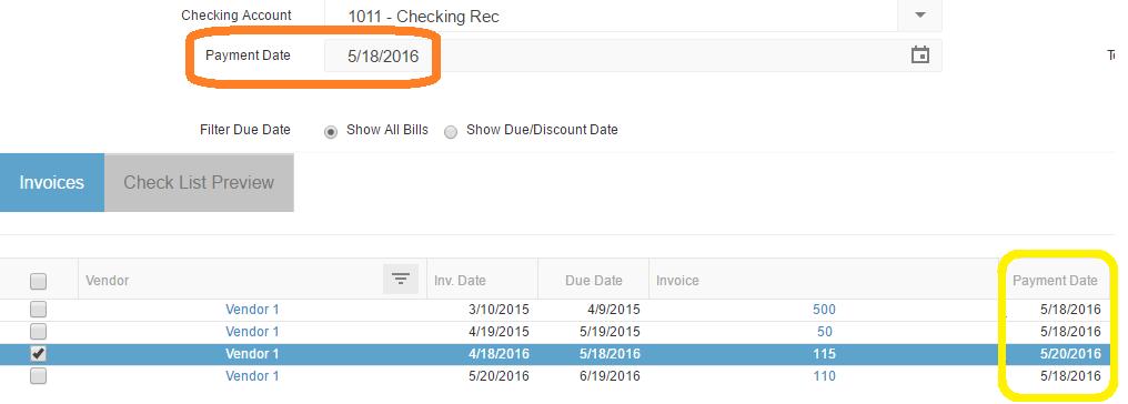 Payment Dates Change