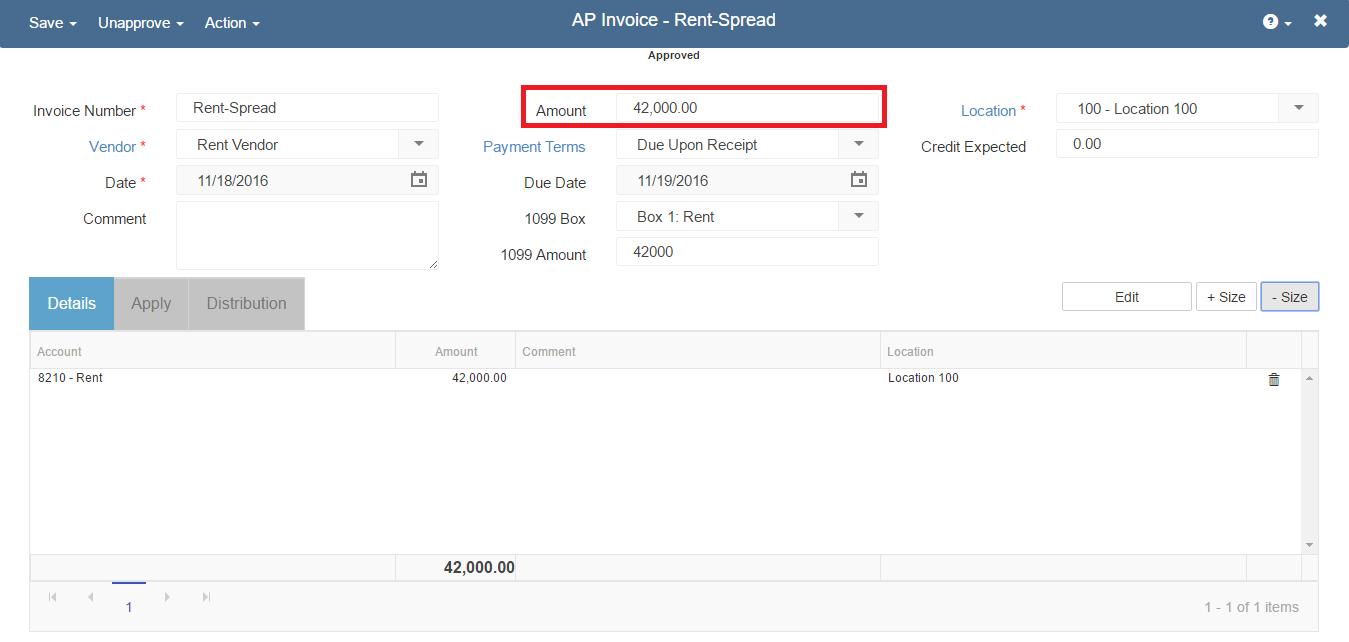 transaction-spreading-new-ap-invoice