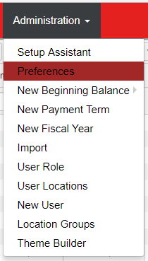POS Integration Settings: Preferences Screen : Support Center