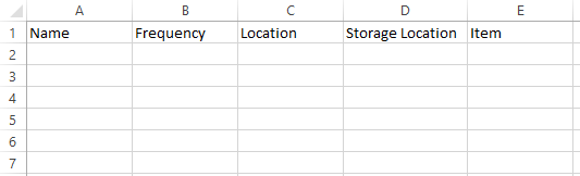 Stock counts create a stock count template support center complete the header information in the excel template by filling in columns a b and c the values in these three columns must be identical for every line maxwellsz