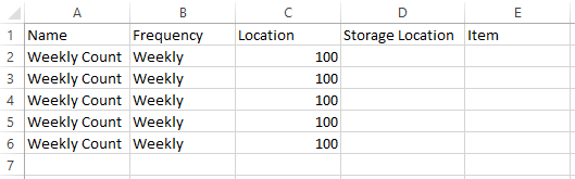 Stock Counts: Create a Stock Count Template : Support Center